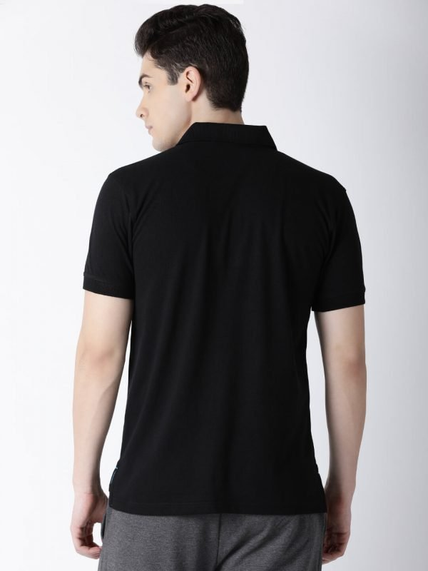 Polo T Shirts For Men - Carlos Fashion Polo - Back - Black
