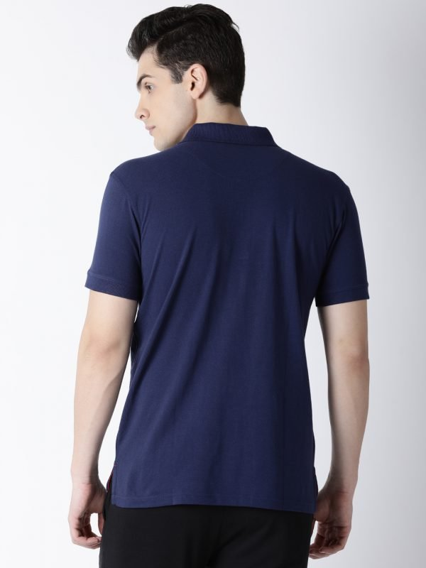 Polo T Shirts For Men - Carlos Fashion Polo - Back - Navy Blue