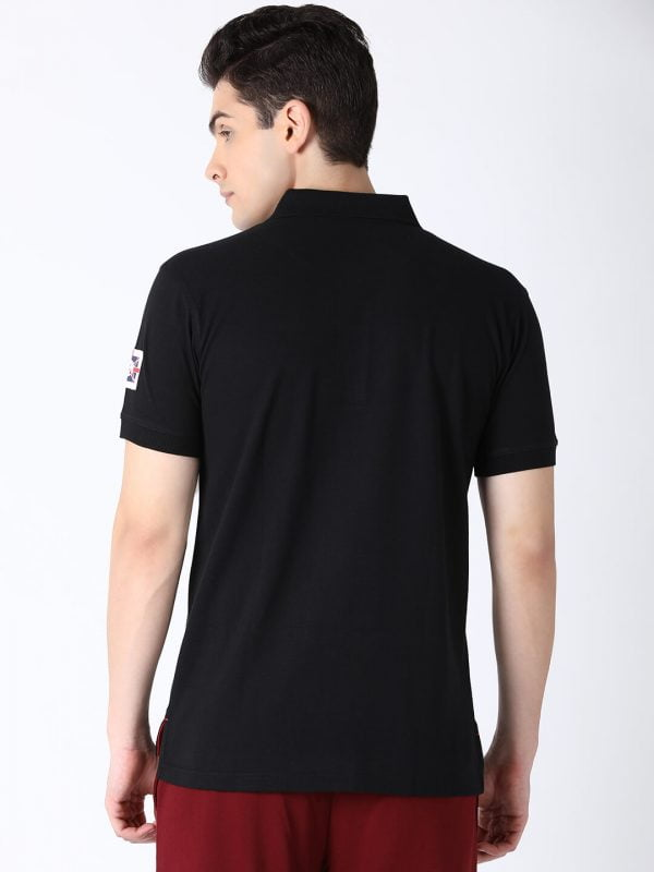 Polo T Shirts For Men - Lucas Fashion Polo - Back - Black