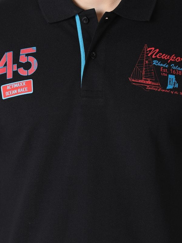 Polo T Shirts For Men - Lucas Fashion Polo - Black