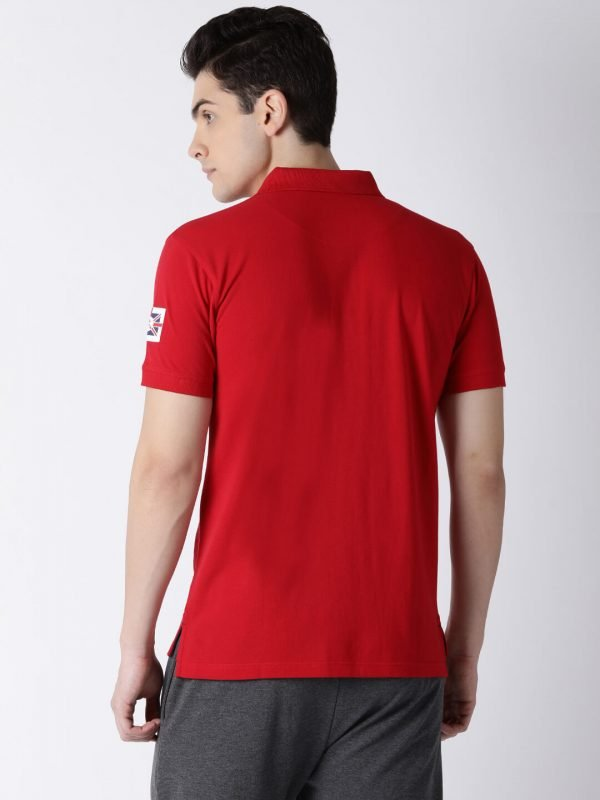 Polo T Shirts For Men - Lucas Fashion Polo - Back - Cherry Red