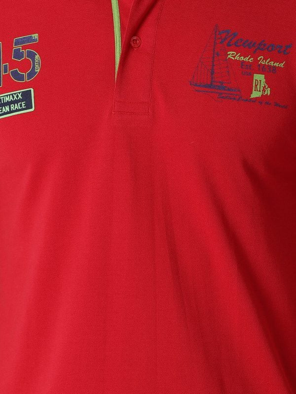 Polo T Shirts For Men - Lucas Fashion Polo - Cherry Red
