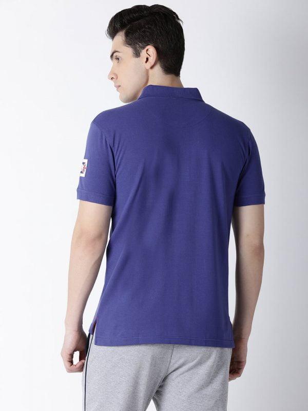 Polo T Shirts For Men - Lucas Fashion Polo - Back - Royal Blue