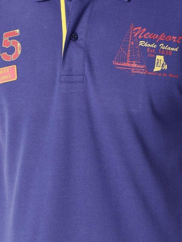 Polo T Shirts For Men - Lucas Fashion Polo - Royal Blue