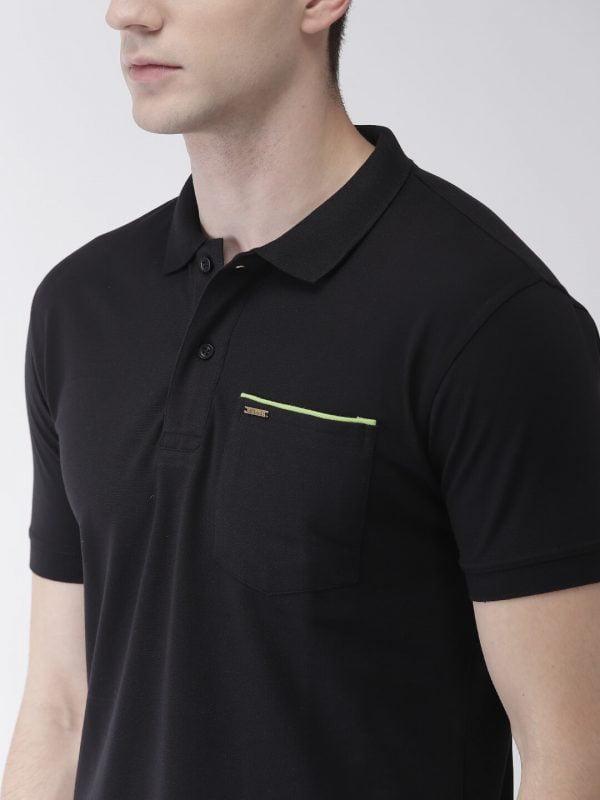 Polo T Shirts For Men - Pocket Polo - Black