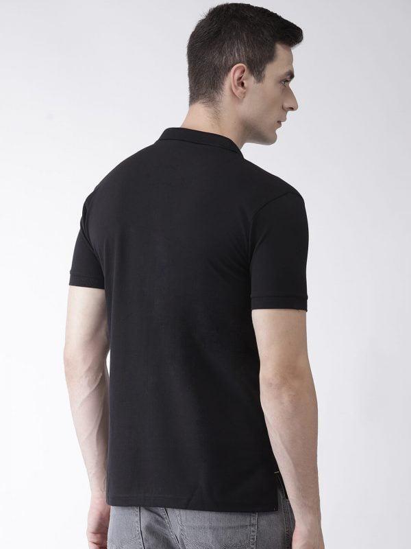 Polo T Shirts For Men - Pocket Polo - Back - Black