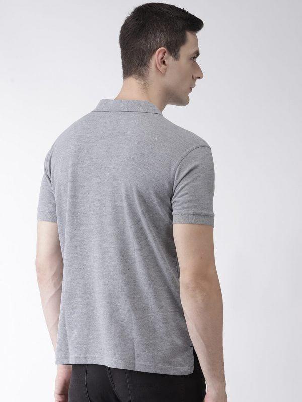 Polo T Shirts For Men - Pocket Polo - Back - Grey
