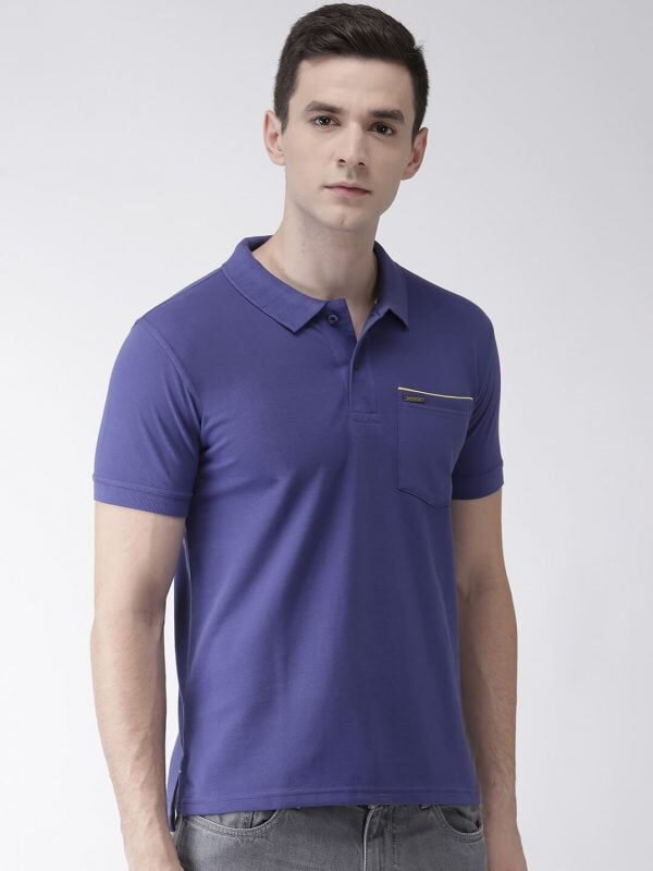Polo T Shirts For Men - Pocket Polo - Front - Royal Blue