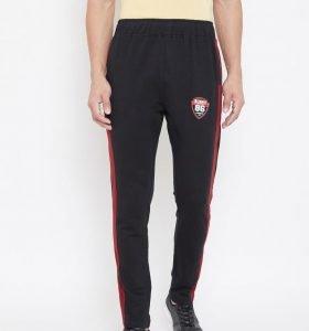 Solid Men Modern Tapered Fit Track Pants - Black