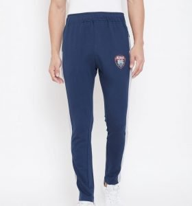 Solid Men Modern Tapered Fit Track Pants - Navy Blue