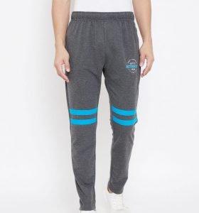 Solid Men Fashion Track Pants - Charcoal Melange