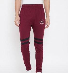 Solid Men Fashion Track Pants - Maroon
