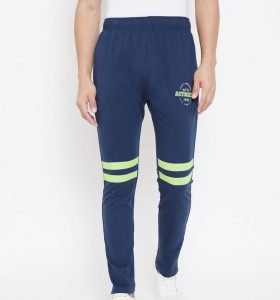 Solid Men Fashion Track Pants - Navy Blue