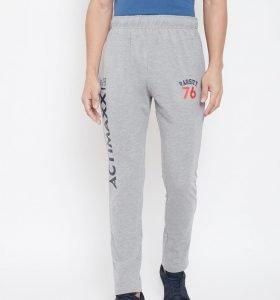 Solid Men Signature Track Pants - Grey Melange