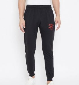 Solid Men Jogger Track Pants - Black