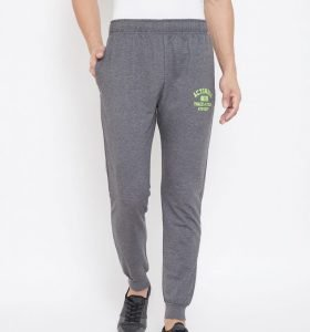 Solid Men Jogger Track Pants - Charcoal Melange