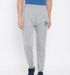 Solid Men Jogger Track Pants - Grey Melange