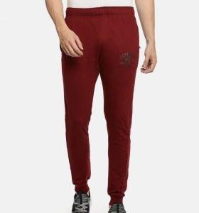 Solid Men Jogger Track Pants - Maroon