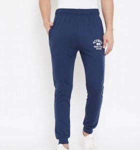Solid Men Jogger Track Pants - Navy Blue