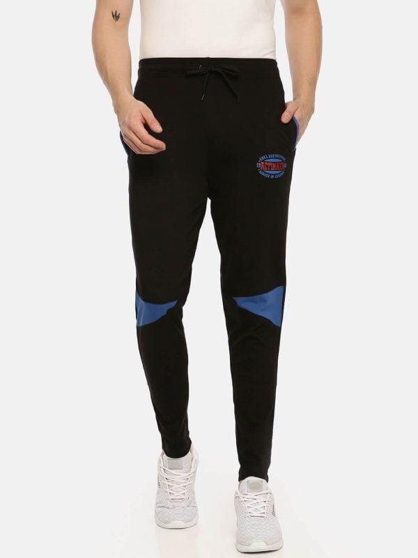 Track Pants For Men - Men Super Premium Track - Front - Black