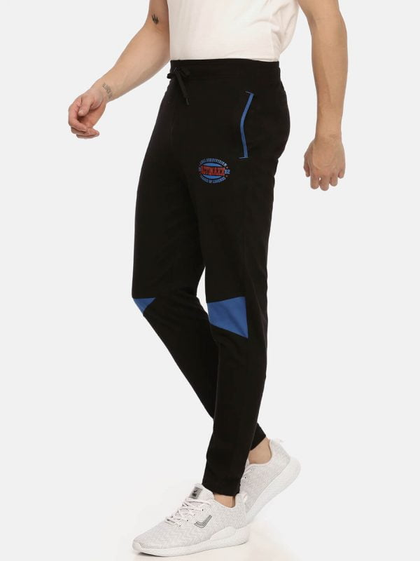 Track Pants For Men - Men Super Premium Track - Side - Black