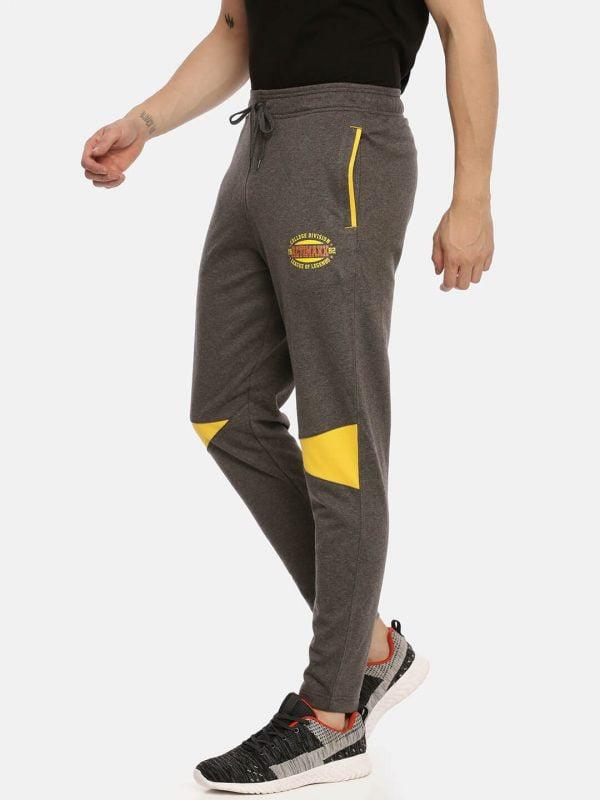 Track Pants For Men - Men Super Premium Track - Side - Charcoal