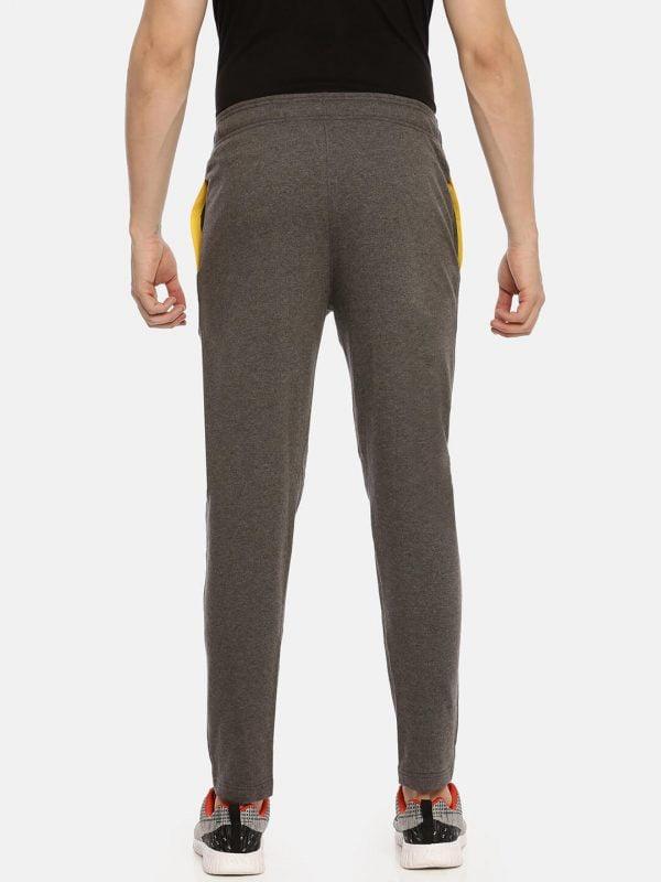 Track Pants For Men - Men Super Premium Track - Back - Charcoal