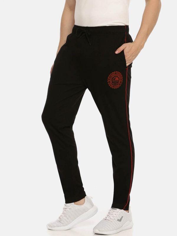 Track Pants For Men - Ultra Comfort Track - Side - Black