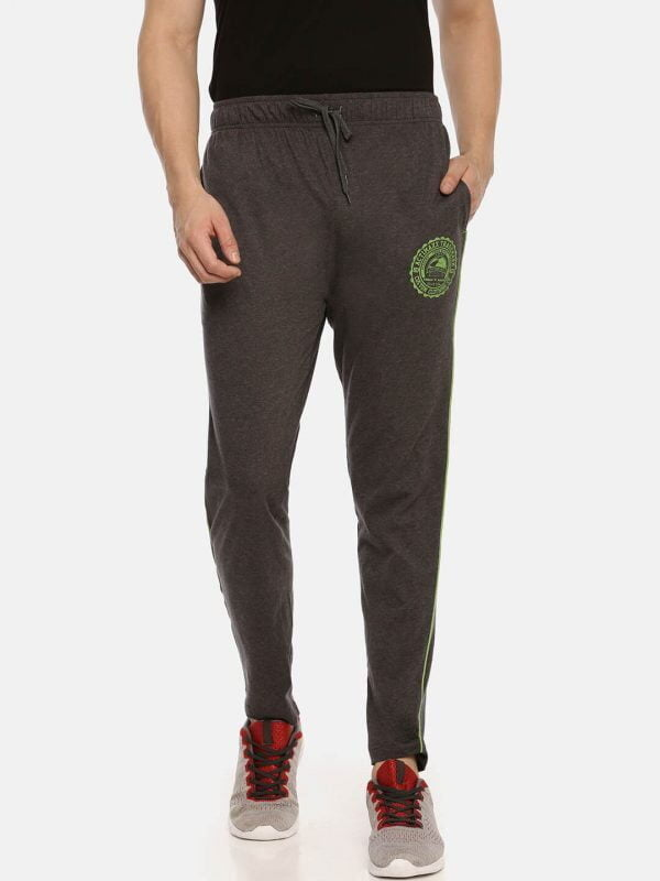 Track Pants For Men - Ultra Comfort Track - Front - Charcoal
