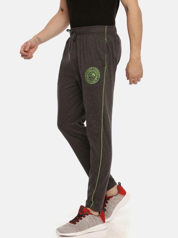 Track Pants For Men - Ultra Comfort Track - Side - Charcoal