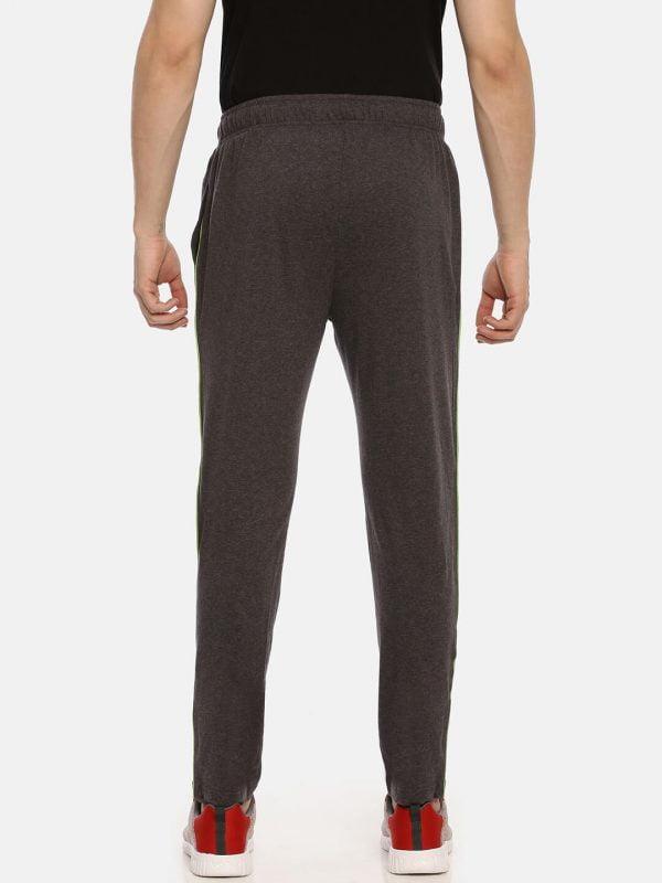 Track Pants For Men - Ultra Comfort Track - Back - Charcoal