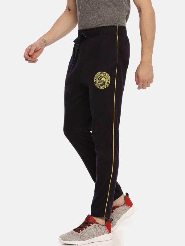Track Pants For Men - Ultra Comfort Track - Side - Navy Blue