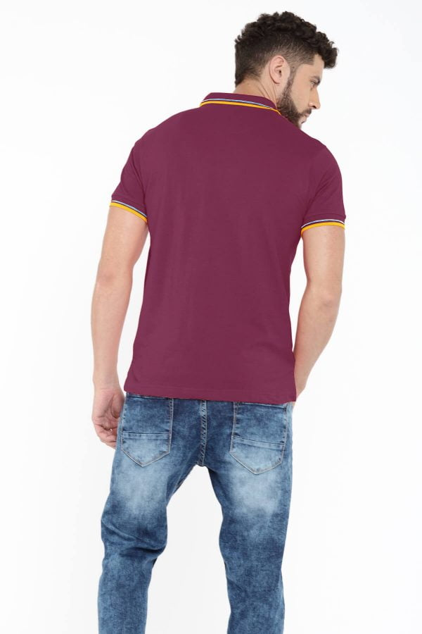 Polo T Shirts Online - Style Polo - Back - Magenta