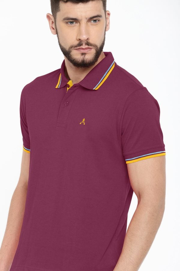 Polo T Shirts Online - Style Polo - Front - Magenta