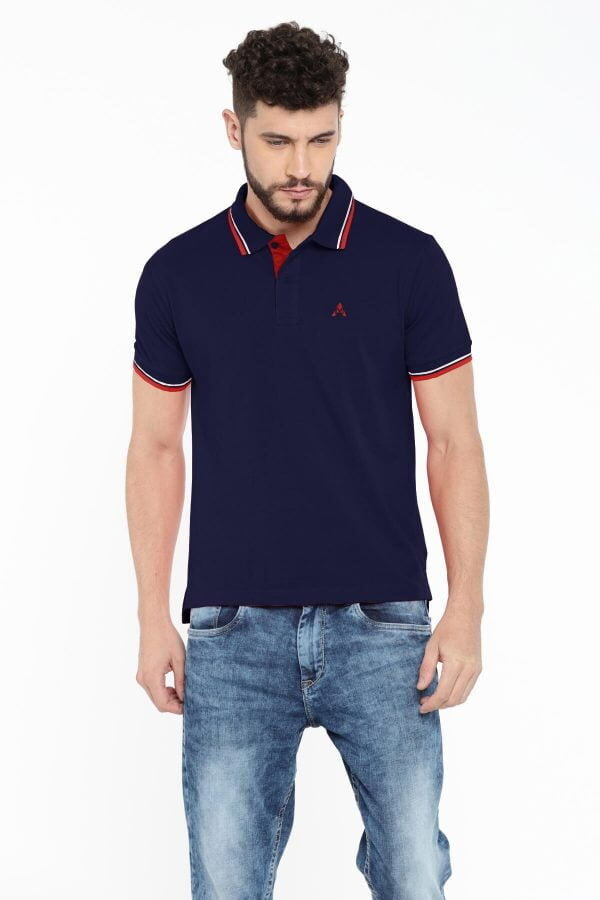 Polo T Shirts Online - Style Polo - Navy Blue