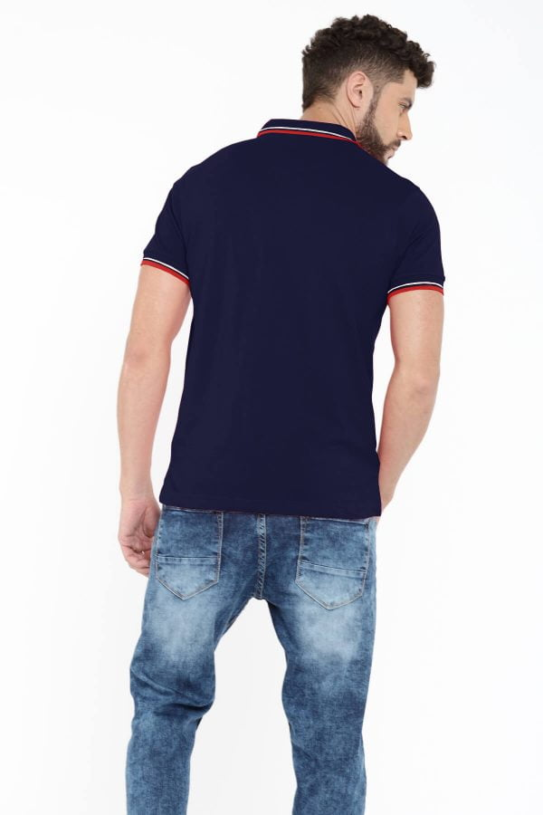 Polo T Shirts Online - Style Polo - Back - Navy Blue