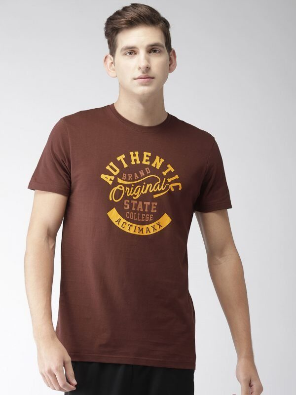 Round Neck T Shirt For Men - Authentic - Front - Andra