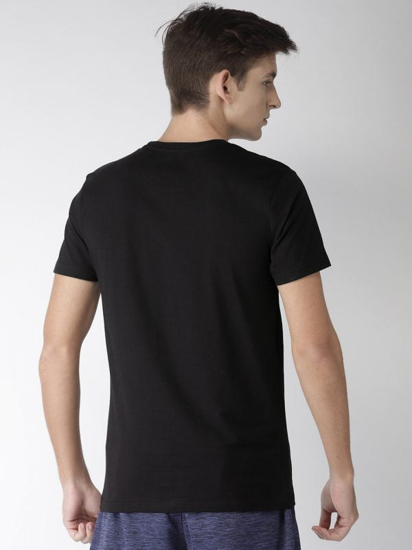 Round Neck T Shirt For Men - Authentic - Back - Black