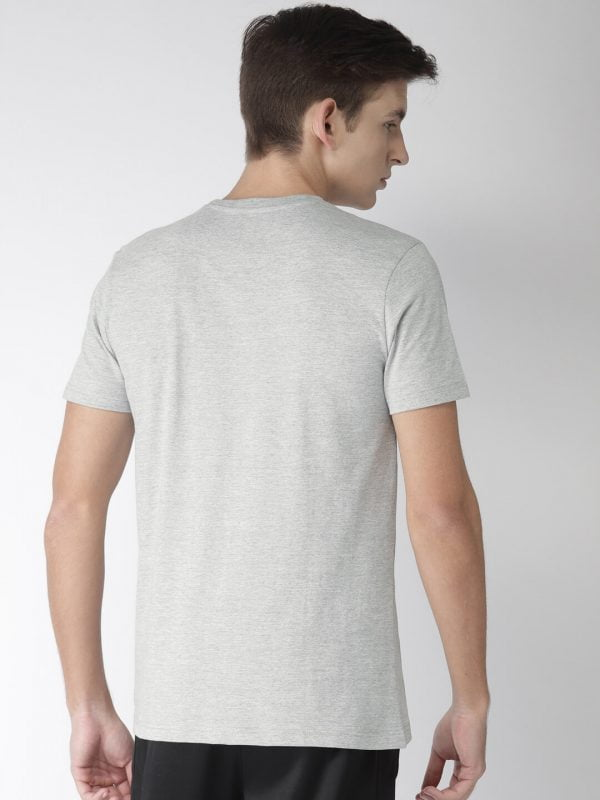 Round Neck T Shirt For Men - Authentic - Back - Grey