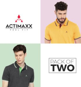 Style Polo - Combo Pack Of 2 - Sunflower, Charcoal Melange