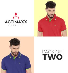 Style Polo - Combo Pack Of 2 - Royal Blue, Cherry Red