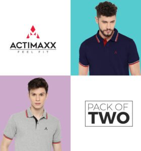 Style Polo - Combo Pack Of 2 - Navy Blue, Grey Melange