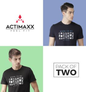 Awesome - Combo Pack Of 2 - Black, Navy Blue