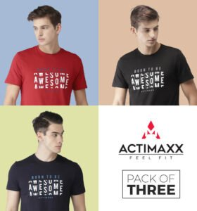 Awesome - Combo Pack Of 3 - Navy Blue, Black, Haute Red