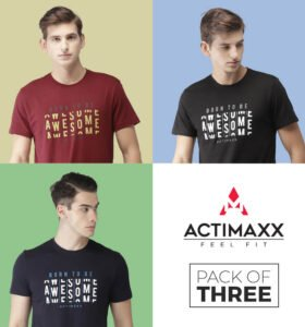 Awesome - Combo Pack Of 3 - Navy Blue, Black, Ruby Wine