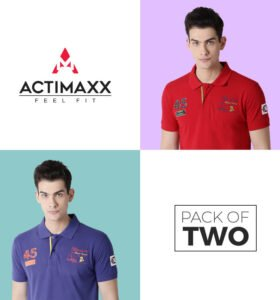 Lucas Fashion Polo - Combo Pack Of 2 - Royal Blue, Cherry Red